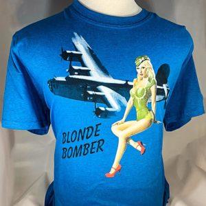 """Pinup """"Blonde Bomber"""" T-Shirt"""
