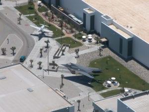 Skunk Works entrance plaza, Palmdale, CA. (Photo courtesy of Wikimedia Commons)